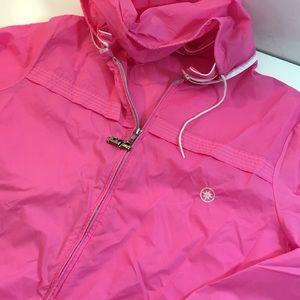 Retro 90s Windbreaker in Bold Pink